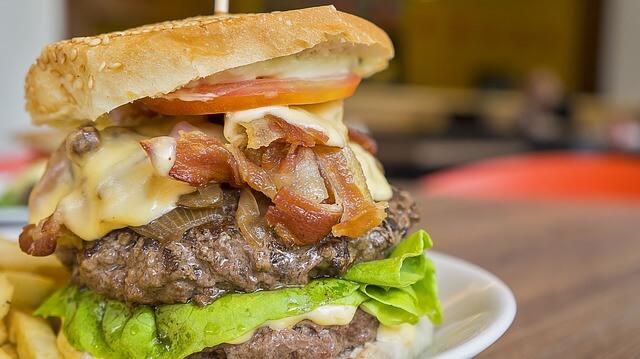Cholesterol, burger