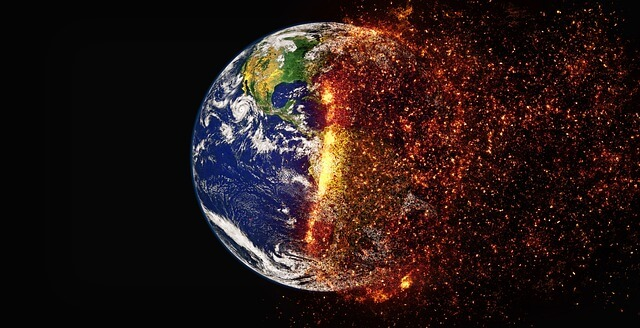 Climate change planet Earth